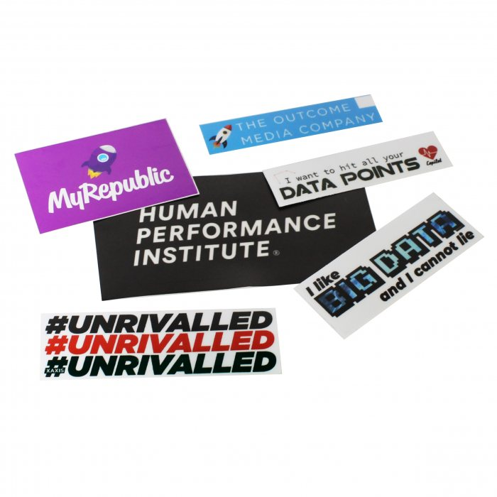 100 CUSTOM STICKER Bulk Print Vinyl Decals Labels Logo Stickers WATERPROOF label